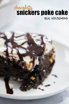Snickers Poke Cake blew our minds. This dessert recipe is so easy to make the kids can even get in on the action! Add more chocolate to your life with this cake!