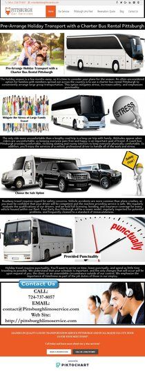Pre-Arrange Holiday Transport with a Charter Bus Rental  | Piktochart Infographic Editor