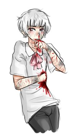 Abused anime boy Guro Creepy Art, Scary, Candy Gore, Ero Guro, Blood Art, Vent Art, Arte Obscura, Goth Art, Dark Anime