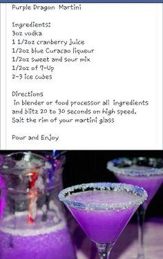Purple Dragon Martini!