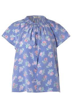 tucker silk blouse