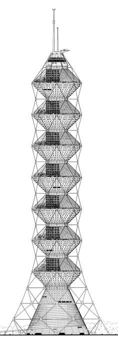 Future Systems (Jan Kaplický, Amanda Levete & David Nixon) | Torre Coexistence | Nueva York, Estados Unidos | 1984