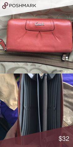 Coach wallet Coral coach wallet Coach Bags Wallets