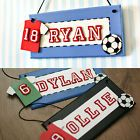 Boy's Personalised Football Sports Theme Bedroom Door Sign Plaque Gift