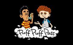 PUFF PUFF PASS (INHALER) T-SHIRT, tshirthell.com