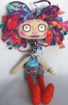 TatterS  original fabric/cloth art doll