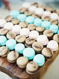 #macarons, #dessert  Photography: Erich McVey Photography - erichmcvey.com  Read More: http://www.stylemepretty.com/2014/05/01/oh-so-classic-nautical-wedding/