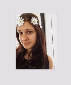 Spaced Out Daisy Headband Flower Halo Flower by FlowerChild216