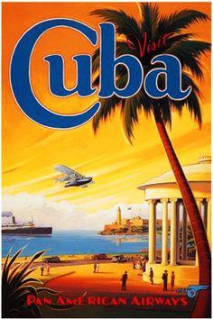 20x Vintage Travel Posters Cuba   Le testeur Voyage....reépinglé par Maurie Daboux ❥•*`*•❥