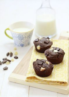 Triple chocolate banana bread muffin recipe that is delicious and healthy!