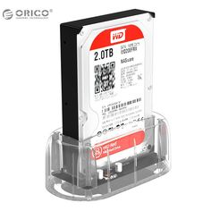 """[Visit to Buy] ORICO 3.5"""" 2.5"""" Transparent Design USB3.0 to SATA3.0 HDD Docking Station Support 8 TB Hard Disk Drive Tool Free for Notebook PC #Advertisement"""
