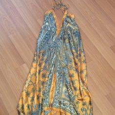 Very Sexy Boho Print Deep V Hi-Low Dress 100% Polyester Very Sexy Hi-Lo Boho Print Deep V Front and Deep V Open Back Dress Dresses High Low