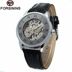 >> Click to Buy << Relojes Hombre 2017 FORSINING Classic Mens Skeleton Auto Mechanical Watch PU Leather Wristwatch Free Ship #Affiliate