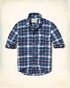 Chicos - Camisa escocesa de popelina   Chicos - Partes superiores   eu.HollisterCo.com