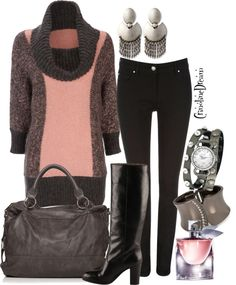 """""""Pink 'n Pewter"""" by crinolinedream on Polyvore"""