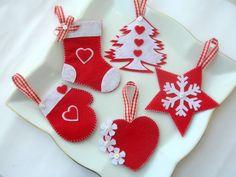 Felt Christmas Tree Ornament by Lilamina on Etsy, $18.00  #felt,#christmas,#christmas ornaments