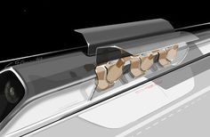 Elon Musk reveals plans for Hyperloop solar-powered train.  LA to SF in 30 minutes at speed of sound!  Designed to compete with CA's high speed train project now in design stages, Hyperloop would shorten travel time from 5 hours to 30 minutes with a series of 70 aluminum pods elevated on columns about 50- 100 yards apart. The above-ground modules would bullet through steel tubes at 800 miles an hour while avoiding the land rights complications projected for the california plans.