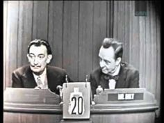 """I love the remarkable Mystery Guest segments on  """"What's My Line?"""", where contestants appear who you would never expect to see on a game show today.  And this one fits that category about as well as any.  Because the guest is legendary artist, Salvador Dali.  Yes, Salvador Dali on a game show!  But what's so wonderful about this is that it's everything you'd want and expect from Salvador Dali on a game.  It starts fine and then becomes wonderfully surreal.  -- RJE"""