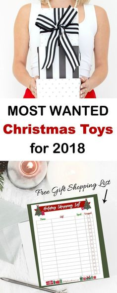 The Hottest Holiday Toys this Christmas 2018. These Most Popular toys are flying off the shelves already - shop these Must-Have toys now before they are gone! Also, free holiday shopping list printable to print and take with you! #toys #toptoys #christmas