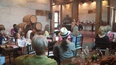 Book club meeting and lunch with speaker #txwine #wine #txvineyard #vineyard #bookclub #privateparty