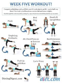 Your week 5 workout - #SpringFitnessChallenge Go to Dieting Digest Check out Dieting Digest