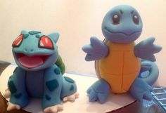 Pokemon Fondant Cake Topper Set by AfterHoursCakery on Etsy: how cute would this be to get a bulbasaur and a pikachu <3