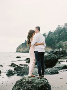 I've been to Muir Woods & Beach multiple times throughout my childhood in the Bay Area, and each time, I find its natural beauty more awe-inspiring and overwhelming than before. This whimsical engagement session among the redwoods and on the rocky