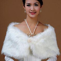 Online Shop Luxury Faux Fur Shawl Wedding Bridal Pearl Wrap Stole Shrug Bolero Cape Poncho Free&Drop Shipping|Aliexpress Mobile