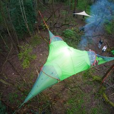 Who has dreamed of living in the trees? http://hammocktown.com/collections/hammock-tents/products/trilogy-hammock-tent