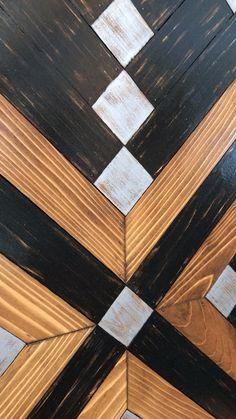 Home Design Decor, Art Deco Design, Wall Design, Diy Art Projects, Woodworking Projects Diy, Diy Wall Art, Wood Wall Art, Simple Geometric Pattern, Fireplace Decorations