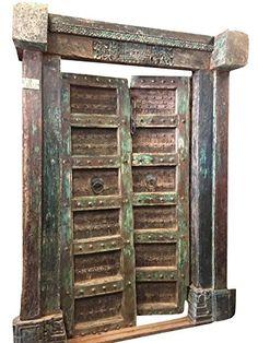 Antique Doors Brass Floral Patina Double Door Spanish Tus... Https://.  Tuscan FurnitureRustic ...