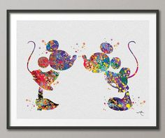 Micky And Minnie Wall Art