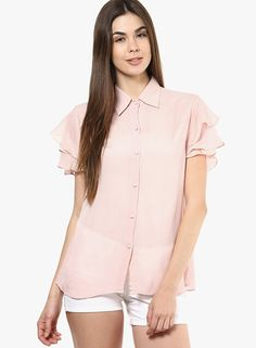 Buy Swatee Singh Pink Solid Shirt for Women Online India, Best Prices, Reviews | SW660WA44NLZINDFAS