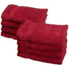 Charlton Home Nashville 600GSM Premium Combed Cotton Hand Towel Color: Burgundy