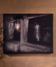 Look at this 'Horse Stall' Light-Up Canvas on #zulily today!