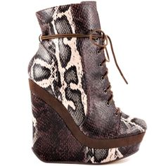 Michael Antonio's Multi-Color Colby - Brown Snake PU for $99.99 direct from heels.com