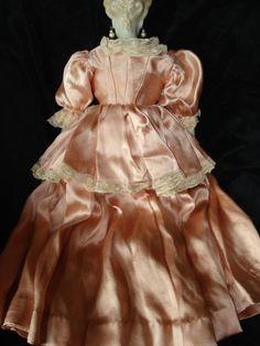 "Vintage 18"" Porcelain Emma Clear Doll from antiques4u on Ruby Lane"