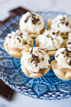 Mini French silk pies