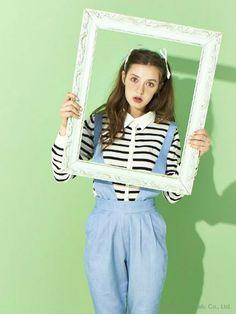 merry jenny Basicボーダーカーディガン / striped cardigan x jumpsuit on ShopStyle