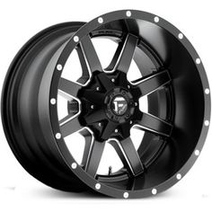 Fuel Maverick D538 Deep Lip Matte Black Milled Wheels & Rims