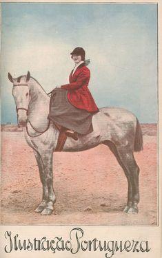 1922 - Ilustração Portuguesa  Riding sidesaddle and looking smug