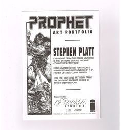PROPHET ART PORTFOLIO Featuring the works of Stephen Platt! SEALED! NM! Limited! http://www.ebay.com/itm/-/301242739174?roken=cUgayN