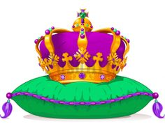 Mardi Gras Crown On Pillow Vector Art Princess Crowns Royal Crowns Tiaras And Crowns