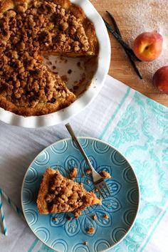 Amaretti Streusel Peach Tart | savorynothings.com