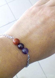 nerezový náramek s jaspisem, granátem, ametystem - vhodný pro znamení berana Beaded Bracelets, Jewelry, Jewlery, Jewerly, Pearl Bracelets, Schmuck, Jewels, Jewelery, Fine Jewelry