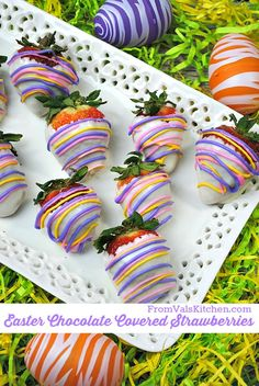 Easter Chocolate Covered Strawberries Recipe - From Val's Kitchen