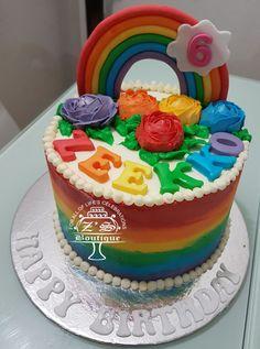 Rain Bow Cake  #RainbowBirthdayCake #BirthdayCake #Rainbow #Birthday #SimpleButtercreamArt #ButtercreamRoses #Love #AllEdibles #YummyCake #ButterCake #FarooOwnDesign #FarooBakes #FarooZsBoutique