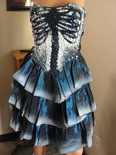 Skeleton dress. Totally prom style.  But I still like it