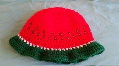 Crochet Watermelon Sunhat by knitcreations86 on Etsy