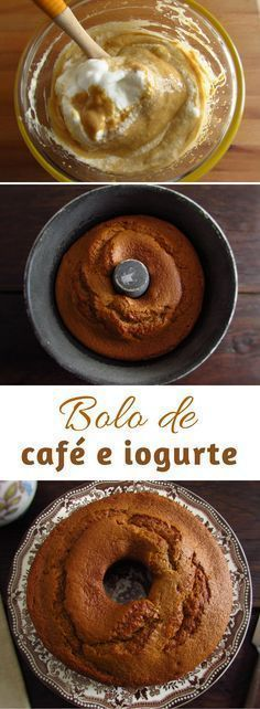 If you like coffee and cakes, this recipe is perfect for you! The blend of coffee and yogurt is simply delicious. Prepare this coffee and yogurt cake. Cake Recipes For Kids, Cake Mix Recipes, Sweet Recipes, Dessert Recipes, Healthy Yogurt, Healthy Cake, Yogurt Cake, Sweet Cakes, Creative Food